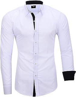 vidaXL 3 Camisas de Vestir para Hombre Talla M Color Negro fáciles de Planchar: Amazon.es: Ropa y accesorios