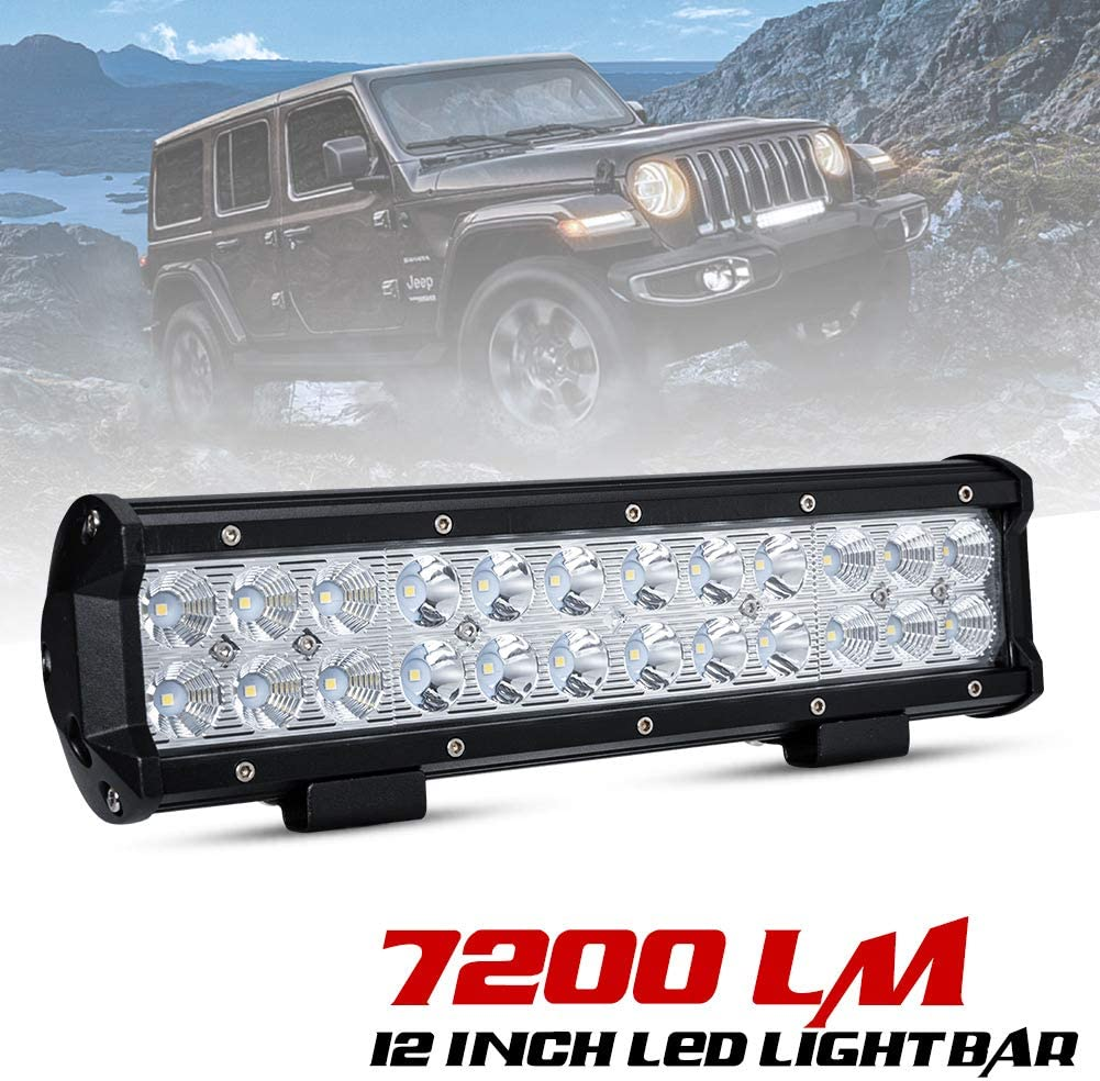 1X 72W Square LED Work Light Bar Spot Offroad Car Driving Lamp Truck SUV 4WD ATV