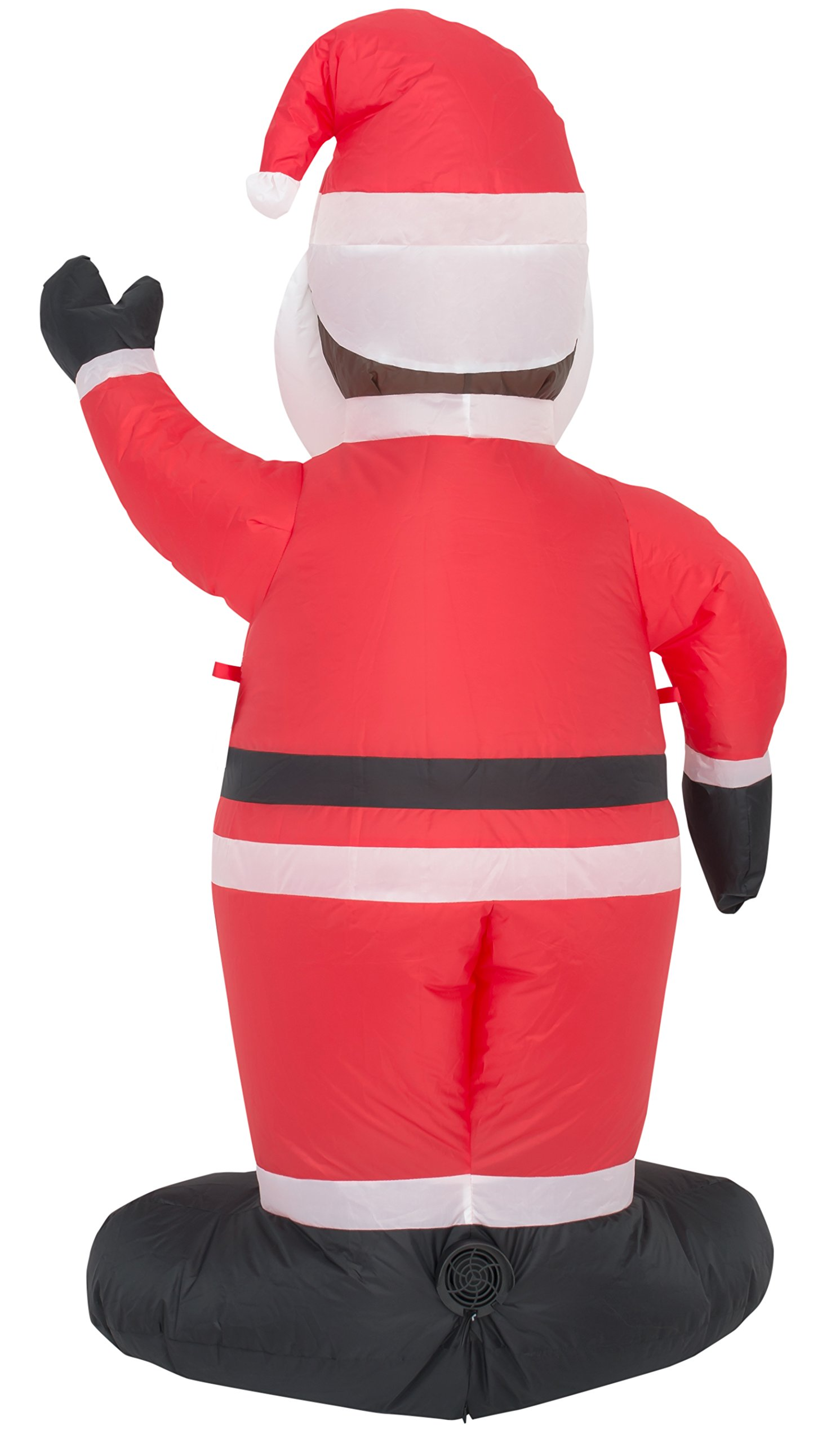 Costume Agent Inflatable Airblown Indoor and Outdoor Christmas Decoration (4 feet, Black Santa) by Costume Agent (Image #3)