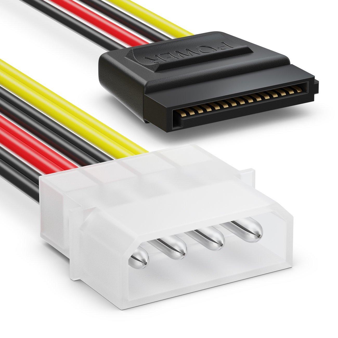 C/âble Adaptateur D/'Alimentation SSD HDD Disque Dur deleyCON MK2945 Lot de c/âbles SATA 2X C/âbles SATA III avec Prises Droites