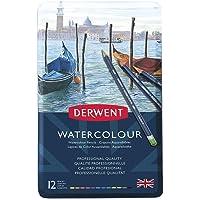 Derwent Watercolour Serisi Sulandırılabilir Kuru Kalem Seti - 12 Renk Metal Kutulu