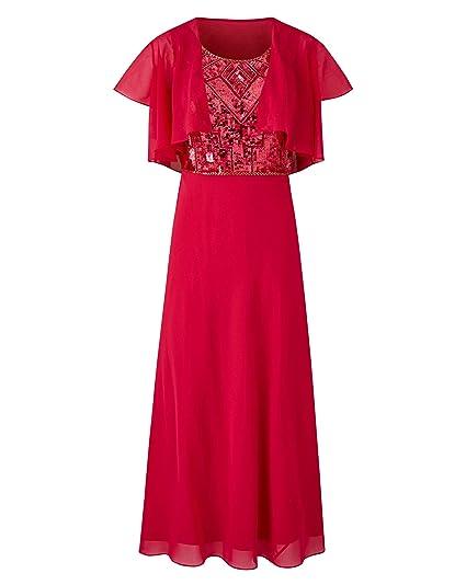 c55388f2661 Simply Be Womens Joanna Hope Sequin Trim Dress and Bolero: Amazon.co ...