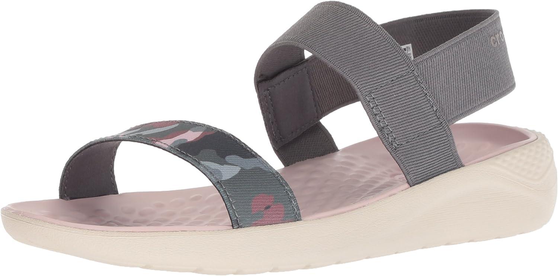 Crocs crocs Women's LiteRide Graphic Sandal W Sport charcoal/stucco