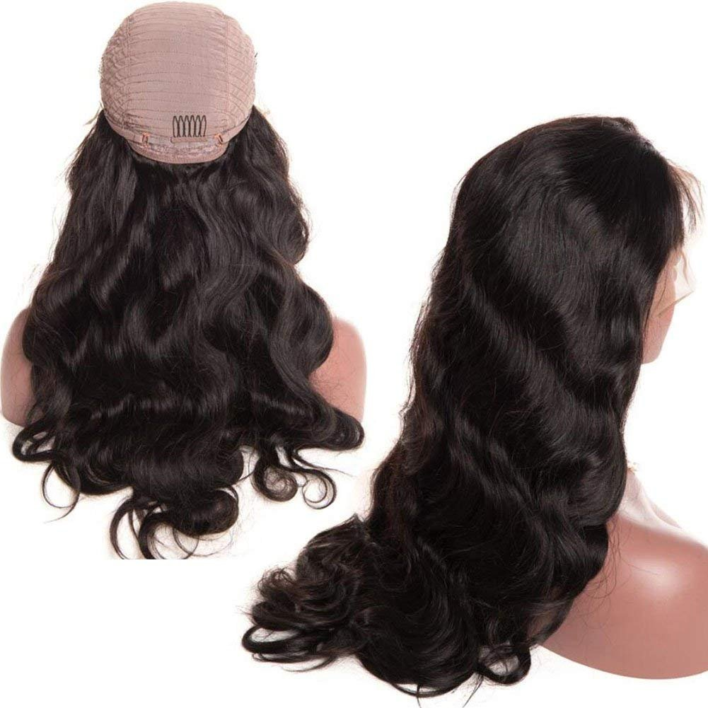 Brazilian Body Wave Lace Front Wigs Glueless Brazilian Virgin Human Hair Wigs Pre Plucked Natural with Baby Hair for Black Women 22 inch by Younsolo (Image #1)