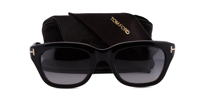 a972f1521bc0f Amazon.com  Tom Ford Snowdon FT0237 Sunglasses Black On Brown w Gray  Gradient Lens 05B TF0237 237  Clothing