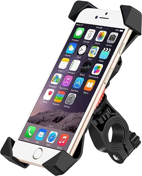 Exprotrek - Soporte Universal para teléfono móvil para Bicicleta, antivibraciones con 360 giros para Smartphones de 3,5 a 6,5 Pulgadas, GPS, Otros Dispositivos: Amazon.es: Electrónica