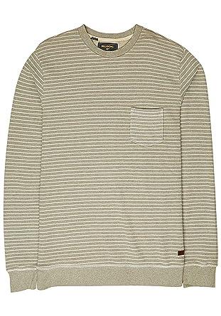 1fb6fe634142 Amazon.com: Billabong Stringer Crew Sweatshirt in Gravel: Clothing