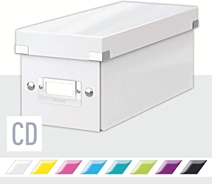 Leitz Caja para Guardar CDs, Blanco, Gama Click & Store, 60410001: Amazon.es: Oficina y papelería
