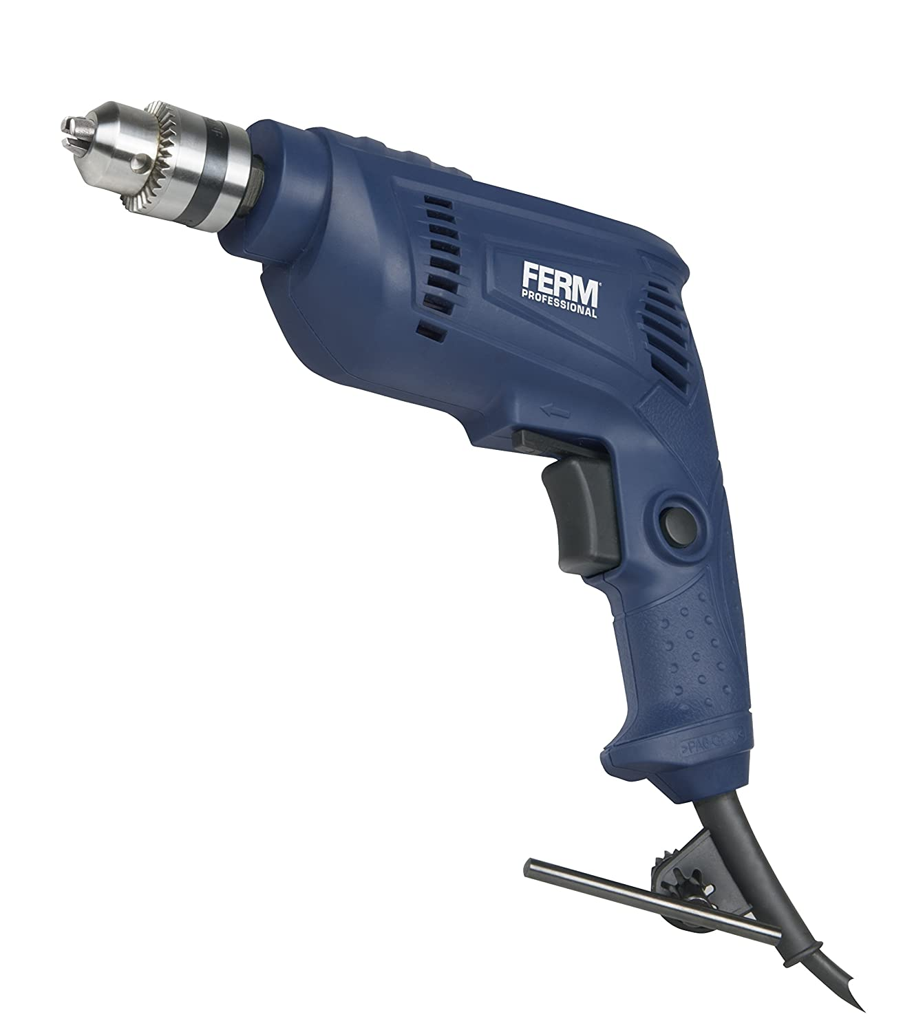 FERM PDM1048P Professional Electric Drill, 450 W, 240 V, Blue