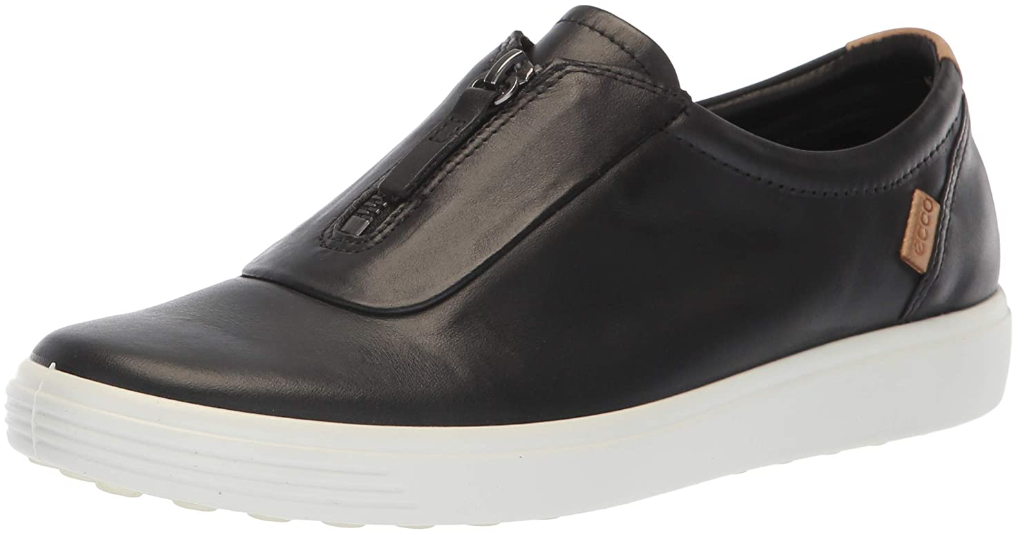 Black ECCO Womens Soft 7 Zip Ii Sneaker