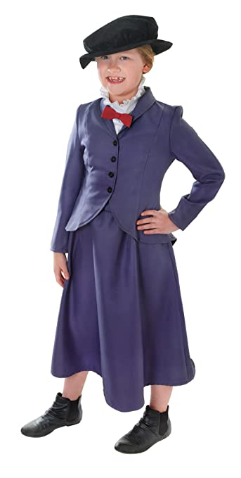 Victorian Kids Costumes & Shoes- Girls, Boys, Baby, Toddler Large Girls Victorian Nanny Costume $24.76 AT vintagedancer.com