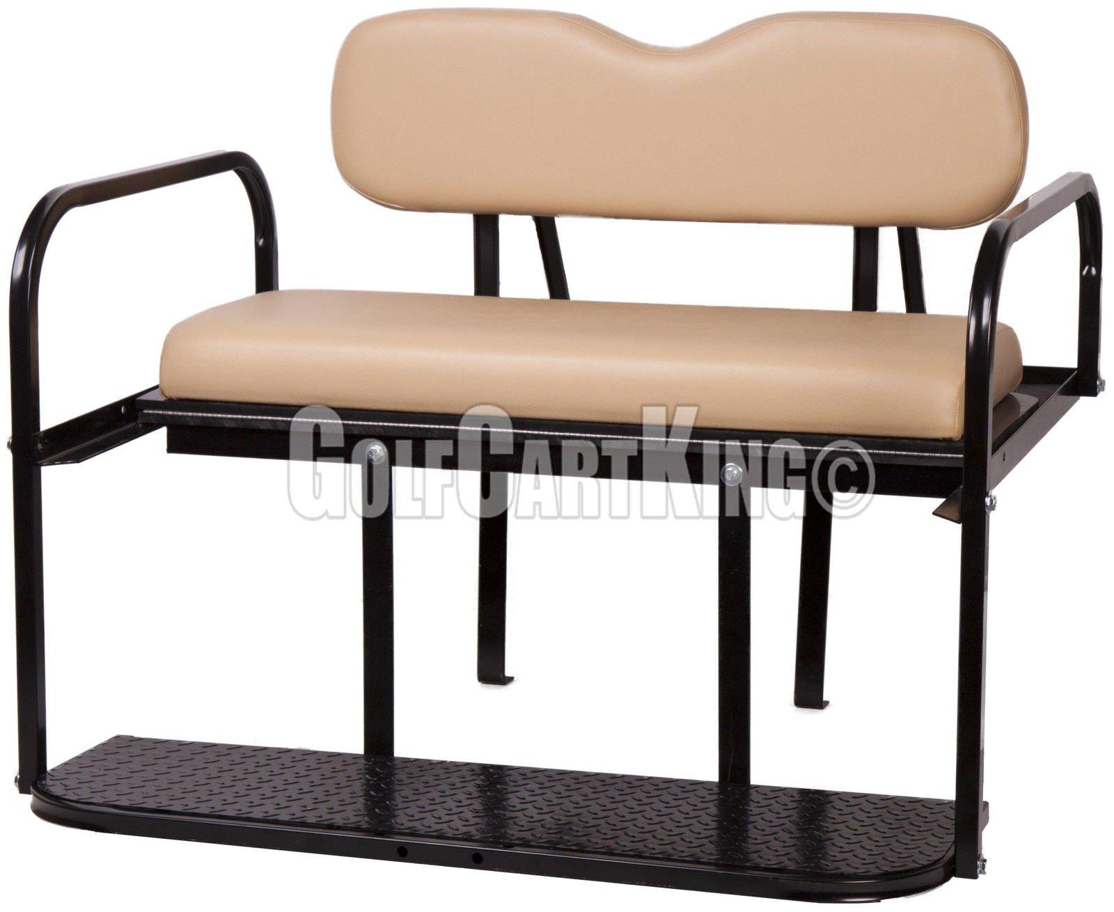 EZGO TXT (1995 - Up) Golf Cart Rear Flip Seat Kit - Tan