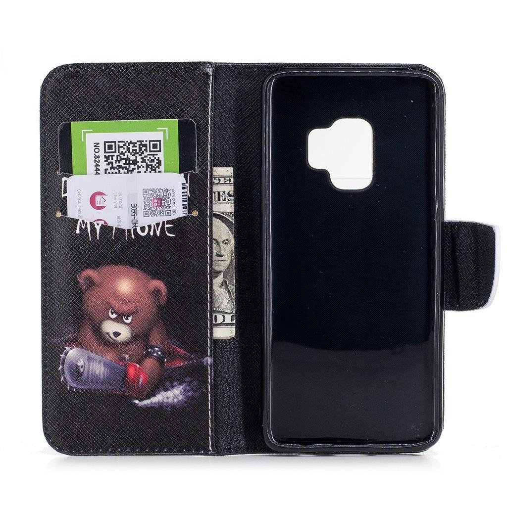 Wholesale 100pcs/lot Bear Butterfly Multi-patterns Flip Leather Case for Samsung Galaxy S9/S9 Plus/S8/S8 Plus/S7/S7E/S6/S5 etc (Multi-Color) by Vfunn (Image #8)