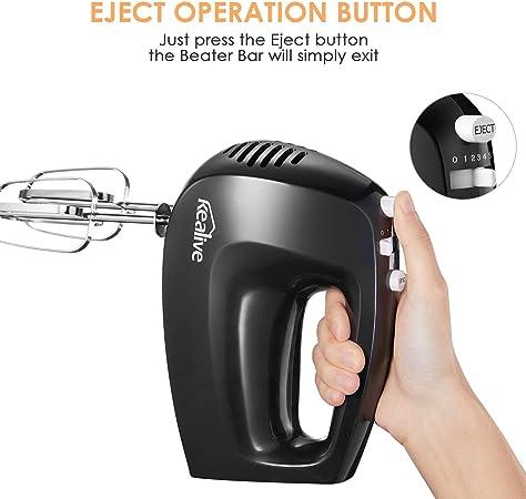 Amazon.com: Kealive - Mezclador de mano eléctrico con 5 ...