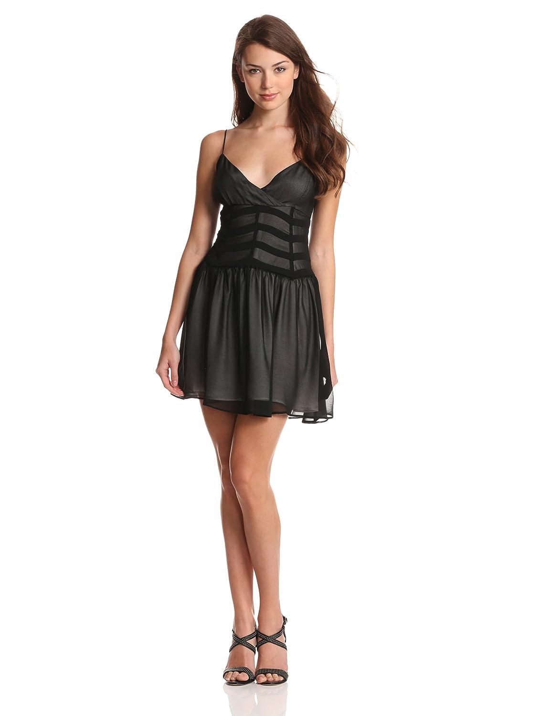 Bardot Women's Chevron Mesh Dress