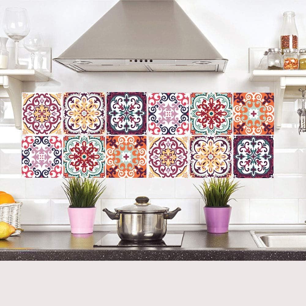 Accessori Decorativi Adesivi Da Parete Per Stile Marocchino Adesivi Mosaico Mattonelle Cucina Adesivi Per Piastrelle 20x20 Cm Pvc Autoadesivo Stile Vintage Deco Per Bagno Cucina Parete Per Bagno Fai Da Te 6