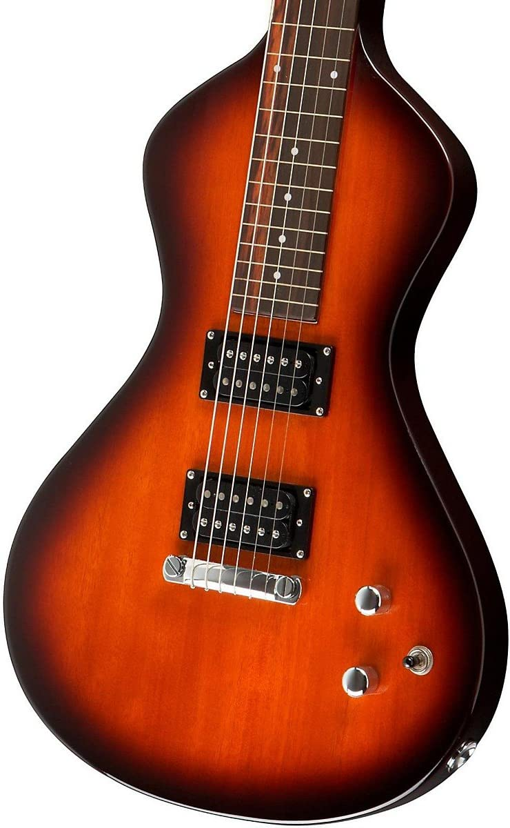 Asher – hawaiano – Guitarra lap steel – tabaco – con Gig Bag