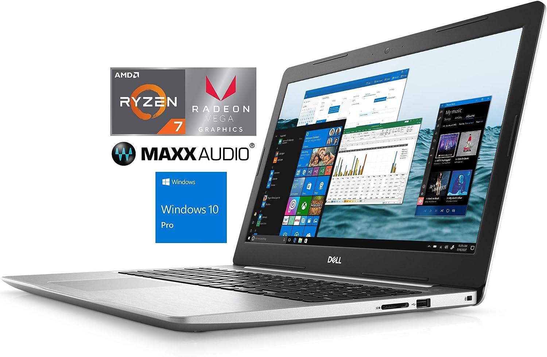 "Dell Inspiron 5575 Notebook, 15.6"" FHD, AMD Quad-Core Ryzen 7 2700U Upto 3.8GHz, 16GB RAM, 512GB SSD, Radeon Vega 10, HDMI, Card Reader, Wi-Fi, Bluetooth, Windows 10 Pro"
