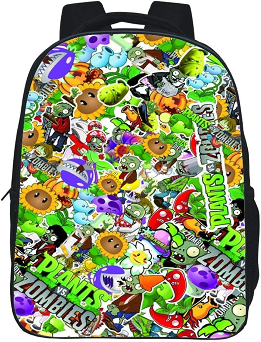 GD-Clothes Plants vs. Zombies Backpack-Kids 13 Inch Cartoon School Backpack Mini Bookbag Casual Daypack