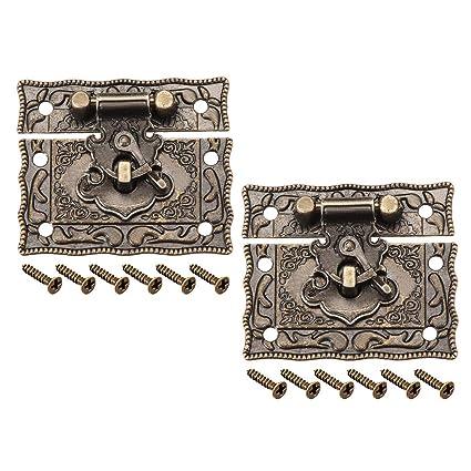 ALCOMPRA 2 Sets Caja de madera Caja de pecho Rectángulo ...