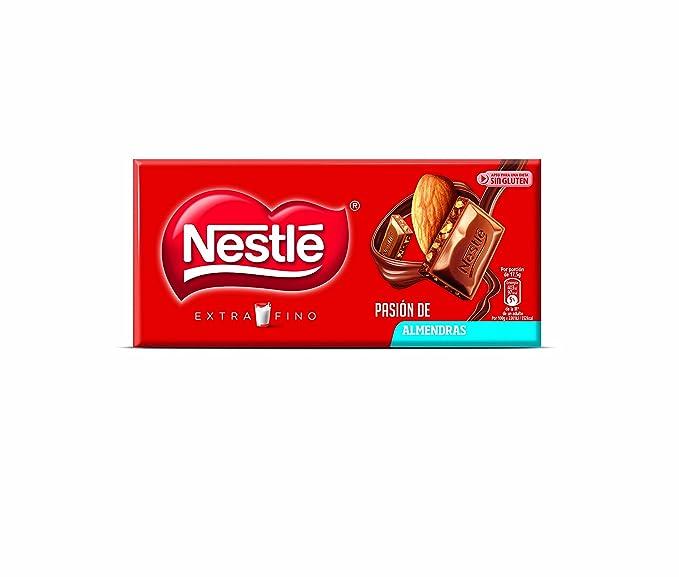 Nestlé Extrafino - Tableta De Chocolate Con Leche y Almendras, 123 g