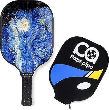 JP WinLook Pickleball Paddle Set Portable Racquet Cover Case Bag Accessories Gift Kit Men Women Kids Indoor Outdoor Ultra Cushion Grip 2 Premium Graphite Rackets Honeycomb Composite Core 3 Balls