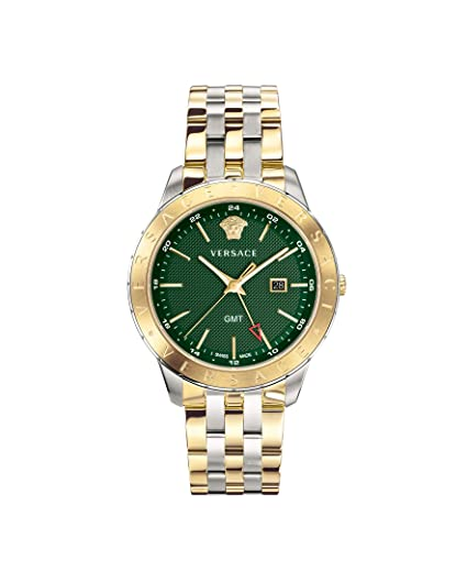 e6c1ea3ad2 Versace Men's Business Slim Quartz Watch with Stainless-Steel Strap ...