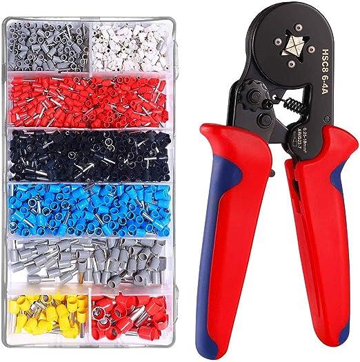 1200pcs Wire Terminal Connector Set US Ferrule Crimper Crimping Plier Tool Kit