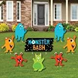 big dot of happiness monster bash yard sign outdoor lawn decorations little monster