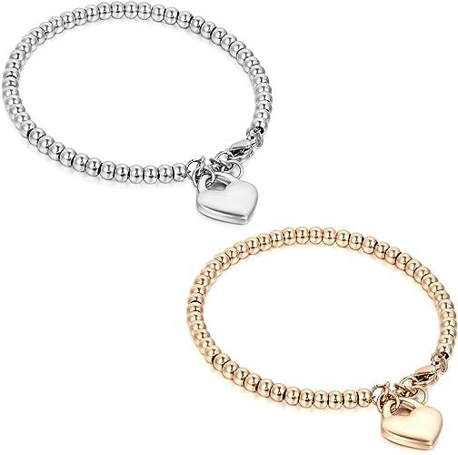 Edelstahl Armband Damen Gold Rosegold Edelstahl Damen Armband Gliederarmband