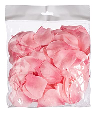 Amazon.com: Blush Rosa pétalos de flores de nailon para ...