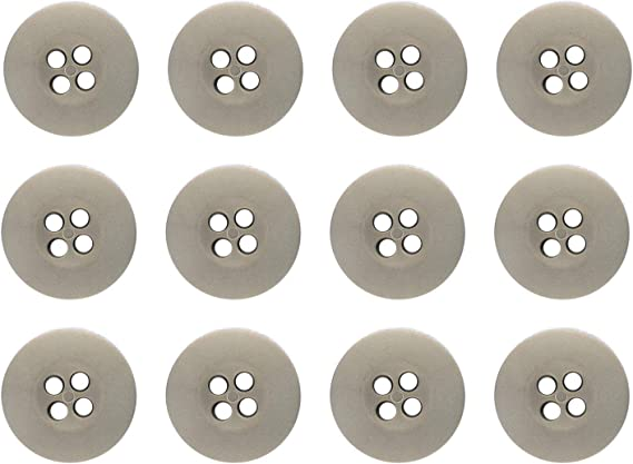 NEW LOT OF 125 ASSORTED WHITE COLOR 7//16 INCH 4 HOLE BUTTONS