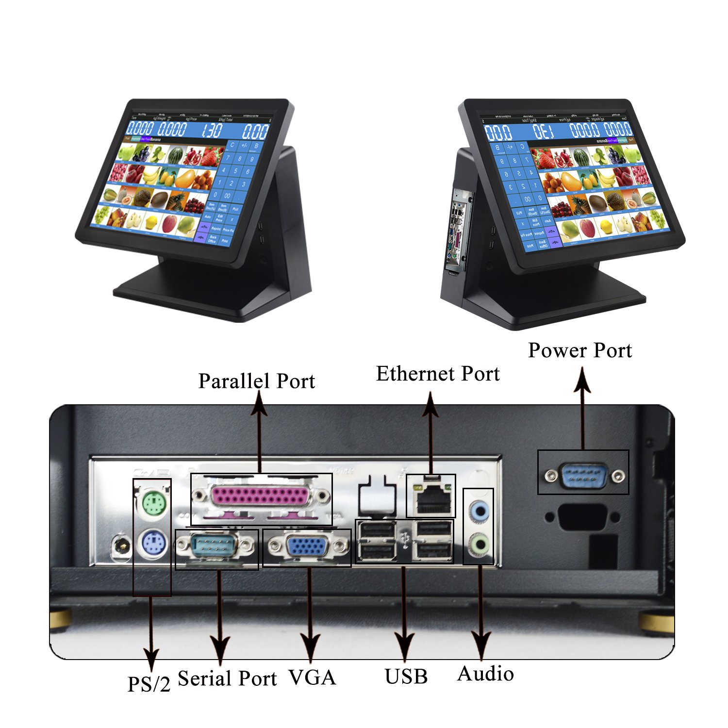 Amazon.com : ZHONGJI Pos Manufacturer Direct Selling Trade Assurance Pos System Computer Cash Registers 15 Inch Touch Screen for Shopping mall or Rsetaurant ...