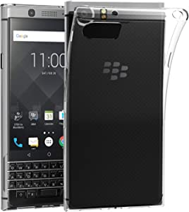 BlackBerry KEYone Case, AVIDET Shock-Absorption, Anti-Scratch Soft Gel TPU Silicone Case Cover for BlackBerry KEYone (Transparent)