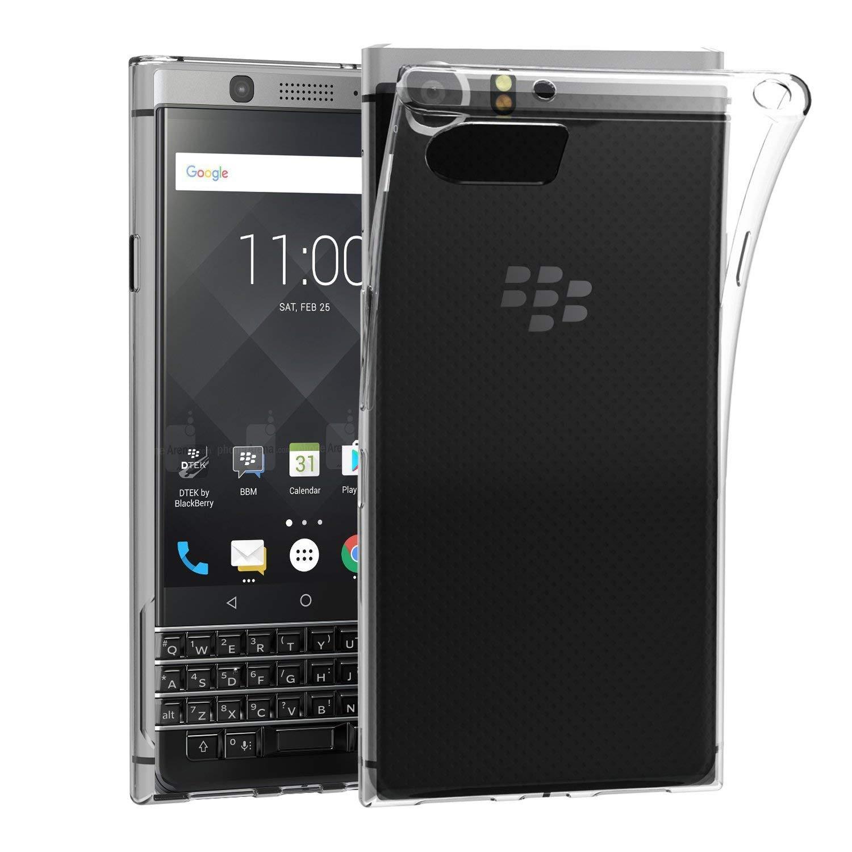 new style 6e739 a4ee6 BlackBerry KEYone Case, AVIDET Shock-Absorption, Anti-Scratch Soft Gel TPU  Silicone Case Cover for BlackBerry KEYone (Transparent)