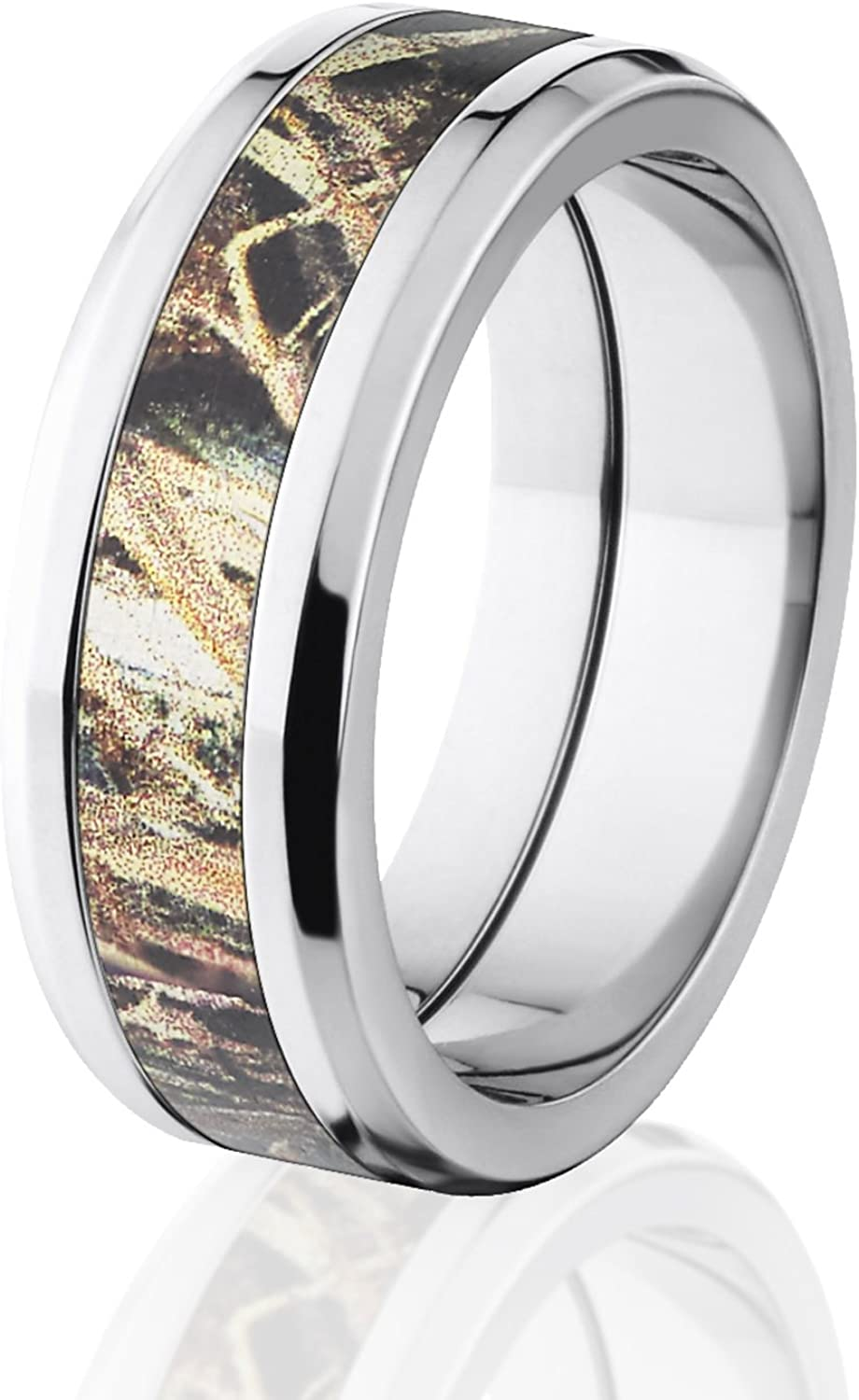 Duck Blind Mossy Oak Camo Rings, Camouflage Wedding Rings, Camo Bands