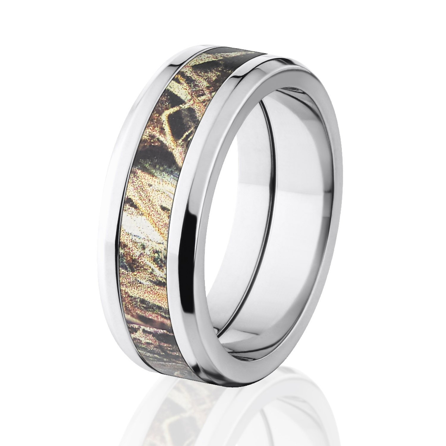 duck blind mossy oak camo rings camouflage wedding rings camo bands amazoncom - Pink Camo Wedding Ring Sets