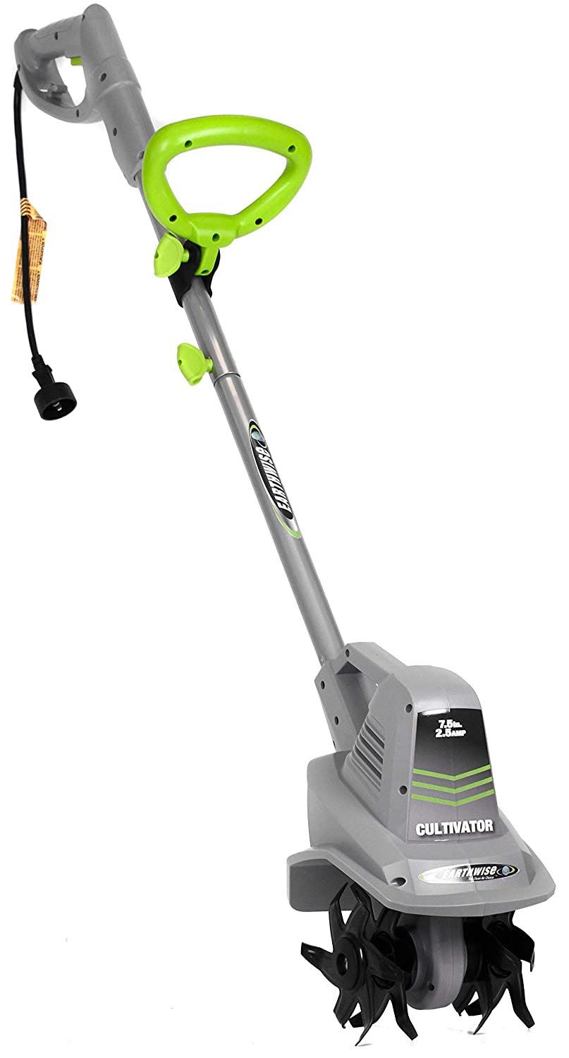 Earthwise TC70025 7.5-Inch 2.5-Amp Corded Electric Tiller//Cultivator Renewed