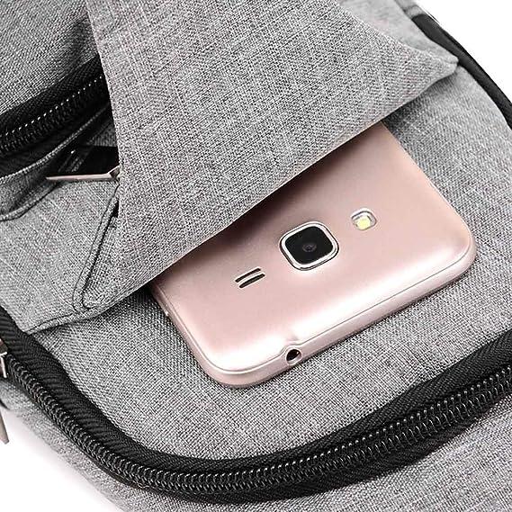 Amazon.com: 2018 USB UniDesign Sling Bag Large Capacity Handbag Crossbody Rucksack Daypack Canvas Fashion Man Chest Pack: Kitchen & Dining