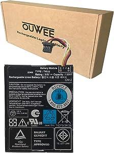 OUWEE T40JJ Laptop Battery Compatible with Dell PERC H710 H710P H730 H810 H830 PowerEdge M620 R320 R420 R520 R620 R720 R820 RAID Controllers Series 070K80 70K80 H132V 0H132V 7VJMH 07VJMH 3.6V 1.6Wh