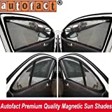 AUTOFACT Magnetic Window Sun Shades for Honda City Ivtec (2009 to 2013) - Set of 4 - with Zipper