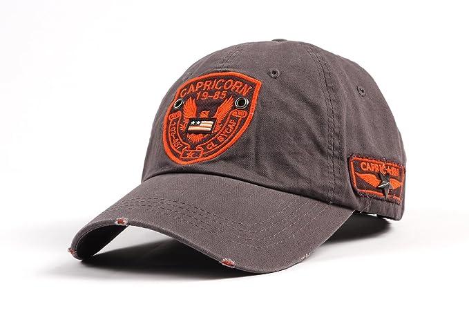 WITHMOONS Gorras de béisbol gorra de Trucker sombrero de Baseball Cap  Distressed Trucker Cap Eagle Patch e9b39b02e69