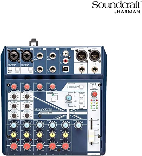 Soundcraft Notepad 8 FX consola de mezclas con USB I/O: Amazon.es ...