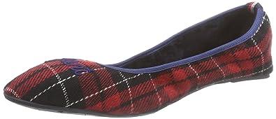 Footwear Megan, Damen Flache Hausschuhe, Mehrfarbig (Red/Navy G56), 36 EU GANT