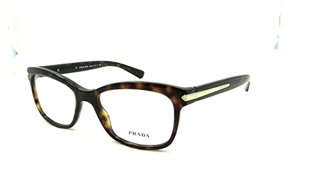 23d01f25a2e Image Unavailable. Image not available for. Colour  Prada Rx Eyeglasses  Frames Vpr 10r 2au-1o1 53x17 Havana Tortoise Made in Italy