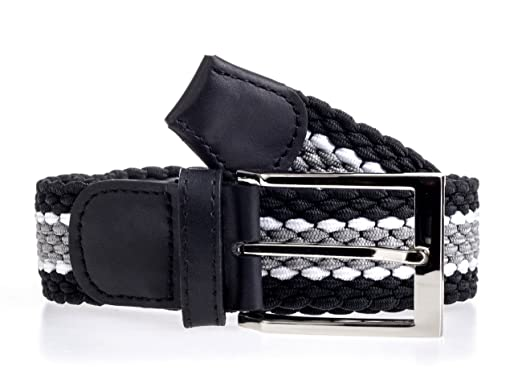 8c961b25f8a1ea Grtel Stretchgrtel Herren Damen elastisch dehnbar elastik schwarz braun  blau, graugestreift, 110