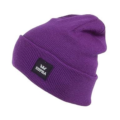 Supra Watts Beanie Hat - Purple 1-Size  Amazon.co.uk  Clothing ce30411df0f4