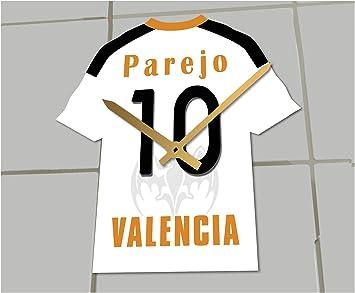 Reloj de camisa de fútbol primera la liga, Fútbol español, personalizable, Valencia CF Football Shirt clock: Amazon.es: Deportes y aire libre