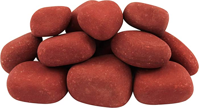 """Margo Garden Products 1-3"""" 30lbs Rainforest India Rose River Pebble, Red"""