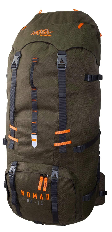 Tashev Trekking Mochila Nomad 80 Plus 15 l, Unisex, Grün & Orange: Amazon.es: Deportes y aire libre
